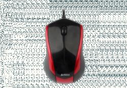 A4-Tech N-400-2 V-Track USB optikai piros-fekete egér