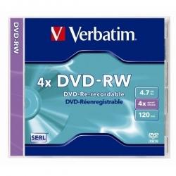 Verbatim DVDVU-4  4,7GB 4X újraírható DVD-RW lemez