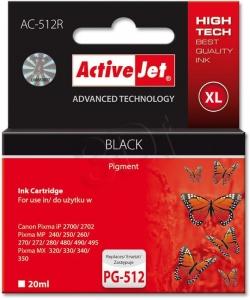 Activejet Utángyártott PG512 fekete tintapatron (PG- 512)