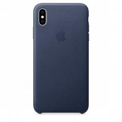 Apple iPhone XS bőr hátlap, Sötétkék (APPLE-MRWN2ZM-A)