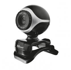 TRUST Exis USB mikrofonos ezüst-fekete webkamera (17003)