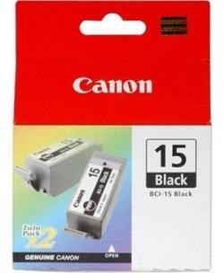 Canon BCI-15BLK 2 db-os fekete tintapatron (8190A002)