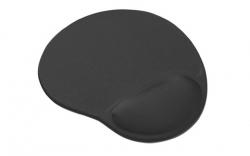 Gembird MP-GEL-BLACK zselés csuklótámaszos fekete egérpad