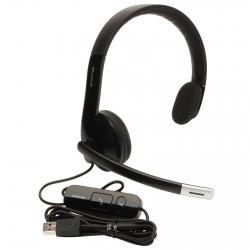Microsoft LX-4000 USB mikrofonos fekete fejhallgató (7YF-00001/ 6CJ-00002/ 6CJ-00003)