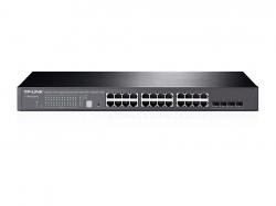 Tp-Link T1700G-28TQ JetStream™ 24 csatlakozós gigabites stackelhető Smart Switch 4 db 10 GE SFP+ foglalat