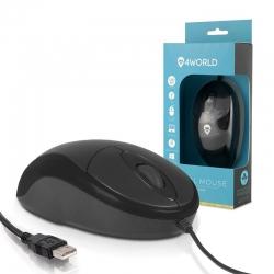 4World PS2 Optikai egér BASIC2 1200dpi fekete (067129)