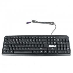 4World Számítógép billentyűzet 107 Key PS/2 fekete (07319)