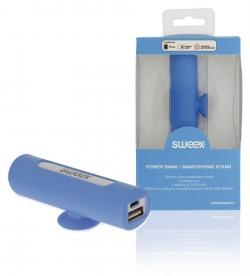 SWEEX Hordozható Külső Akkumlátor 2500 mAh USB Kék (SW2500PB001BU)