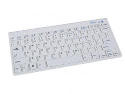 Gembird bluetooth slimline kompakt billentyűzet US kiosztás fehér (KB-BT-001-W)