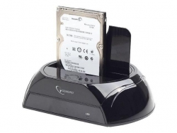 Gembird, For 2.5'' and 3.5'' SATA hard drives HDD dokkoló állomás fekete (HD32-U3S-2)