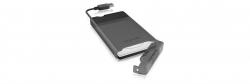 IcyBox External enclosure for 2.5 SATA HDD/SSD fekete (IB-235-U3)