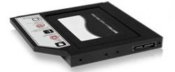 IcyBox 2.5'' SSD/HDD (dvd slot) belső keret fekete (IB-AC640)