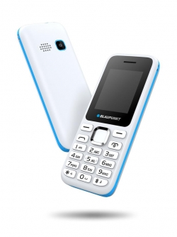 Blaupunkt FS 03 Single Sim Mobiltelefon fehér-kék (FS 03 White-Blue)