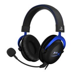 HyperX Cloud For PS4 Licensed Console Headset fekete-kék (HX-HSCLS-BL/EM)