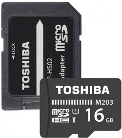 Toshiba Memóriakártya Micro SDHC 16GB M203 Class 10 UHS-I + Adapter (THN-M203K0160EA)