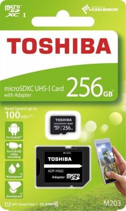Toshiba Memóriakártya Micro SDXC 256GB M203 Class 10 UHS-I + Adapter (THN-M203K2560EA)
