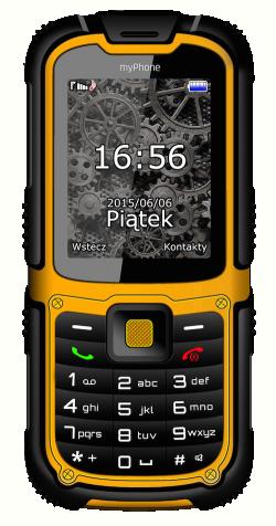 myPhone HAMMER 2+ sárga mobiltelefon (5902052862153)
