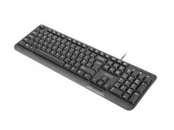 Natec Keyboard TROUT SLIM USB US layout fekete (NKL-0967)
