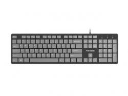 Natec Keyboard Discus SLIM Black/Grey USB US Layout (NKL-1182)