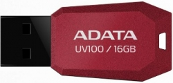 ADATA UV100 16GB USB 2.0 Piros USB Memória (AUV100-16G-RRD)