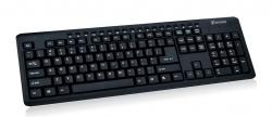 VAKOSS számítógépes multimédiás USB billentyűzet TK-108 UK kiosztás fekete (TK-108UK)