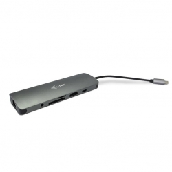 i-tec USB-C Metal Nano Docking Station sötét szürke (C31NANODOCKLANPD)