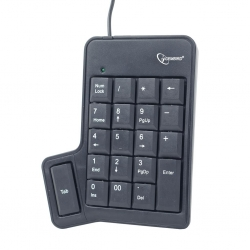 Gembird USB numpad with additional TAB key FEKETE (KPD-UT-01)