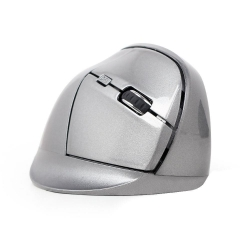 Gembird Ergonomic wireless optical mouse MUSW-ERGO-02 1600 DPI USB szürke (MUSW-ERGO-02)