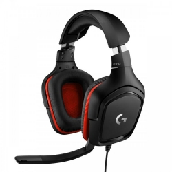 Gaming Headset G332 Symmetra - 3.5 MM Leatherette fekete (981-000757)