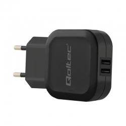 Qoltec AC adapter fekete (51837)