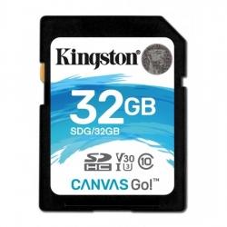 Kingston 32GB SDHC Canvas Go 90R/45W CL10 U3 V30 Memóriakártya (SDG/32GB)
