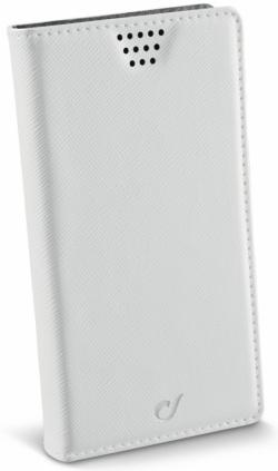 Cellularline Book Case ''XL'' univerzális fehér telefontok (BOOKUNI1LW)