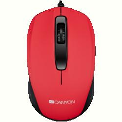 Canyon CNE-CMS01R USB egér 1000dpi - Piros