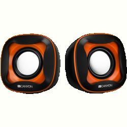 Canyon fekete-narancs USB hangszóró (CNS-CSP202)
