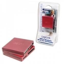 LogiLink CR0019 USB2.0 All in 1 alumínium kártyaolvasó - Pink
