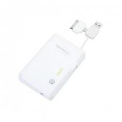 CYBERPOWER Fehér hordozható töltő 5200 mAh (CPBC5200TWI)