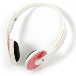 Omega FH3930T fehér-piros mikrofonos fejhallgató
