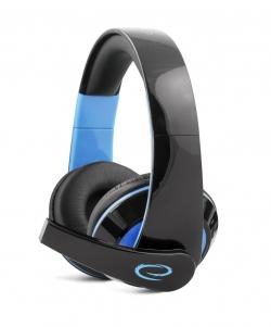 Esperanza Condor EGH300B fekete-kék mikrofonos gamer fejhallgató