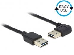 Delock EASY-USB 2.0-A apa > apa kábel, 90°-ban forgatott (83464)