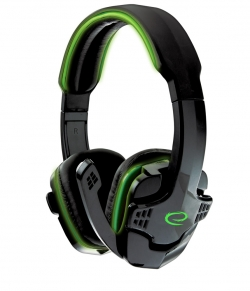 ESPERANZA RAVEN STEREO HEADPHONES WITH MICROPHONE FOR GAMERS Green(EGH310G)