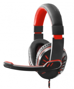 ESPERANZA HEADPHONES FOR GAMERS WITH MICROPHONE CROW RED (EGH330R)
