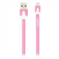 ENERGIZER Kábel lapos Micro USB Pink( LCAEHUFCMCPK2)