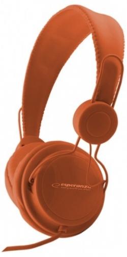 ESPERANZA Sztereó fejhallgató, narancssárga (EH148O)