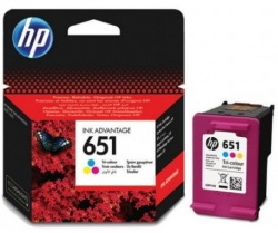 HP 651 háromszínű tintapatron (C2P11AE)