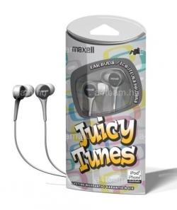 MAXELL JUICY TUNES Fülhallgató Ezüst (303597.00.CN)