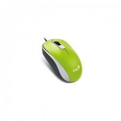 Genius Egér - DX-110 (Vezetékes, 1000 DPI, 3 gomb, USB, zöld)