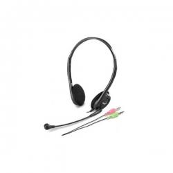 Genius Fejhallgató - HS-200C Fejhallgató (3,5mm Jack, mikrofon, fekete)