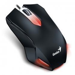 Genius Egér - X-G200 (Vezetékes, USB, 1000DPI, 6 gomb, Fekete)
