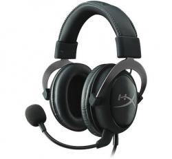 Kingston HyperX Cloud II Gun Metal fekete-ezüst mikrofonos gamer fejhallgató (KHX-HSCP-GM)
