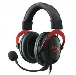 Kingston HyperX Cloud II fekete-piros mikrofonos gamer fejhallgató (KHX-HSCP-RD)